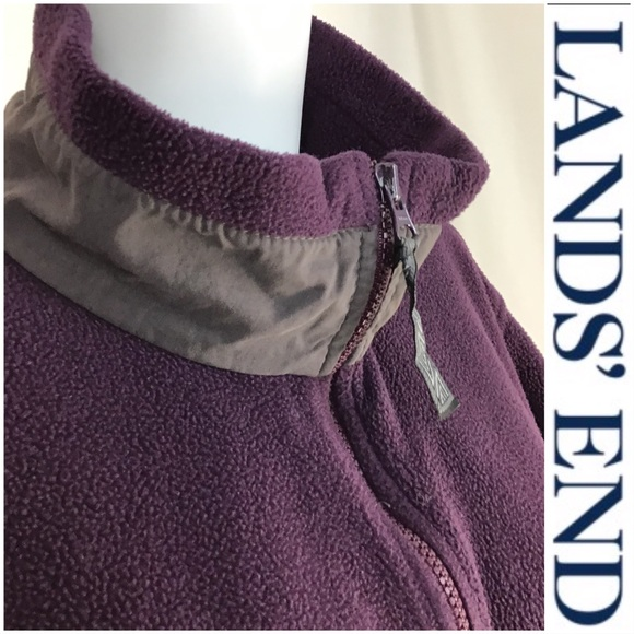 Lands' End Tops - Lands End Full Zip Up Purple Fleece Jacket